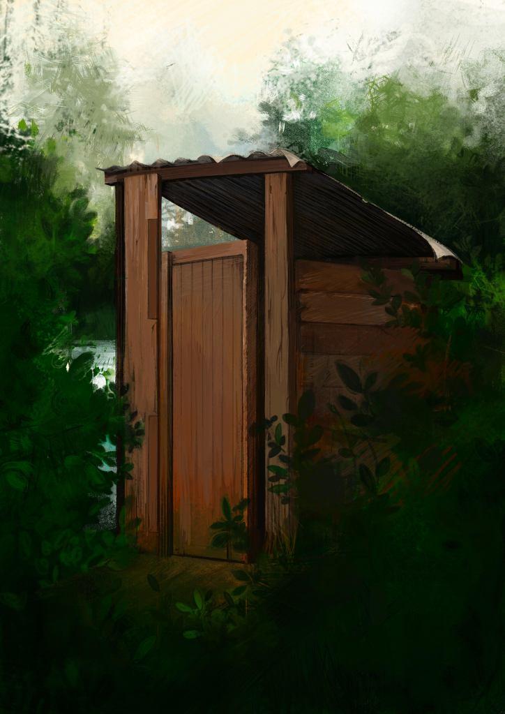 A kampung toilet in rural Singapore.